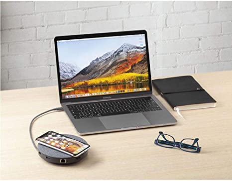 Aiino AirHub USB-C hub 11 in 1 with Qi wireless