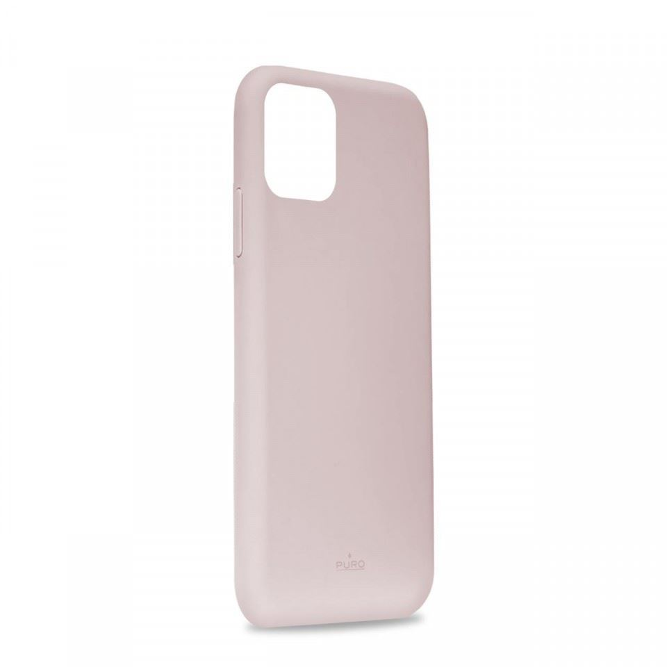 Puro Cover Silicon with microfiber inside for iPhone 11 Rose