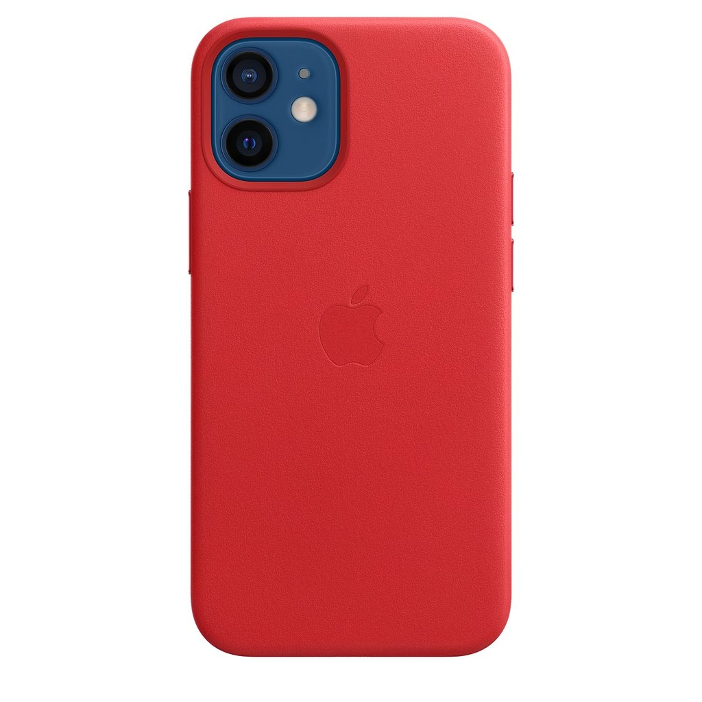 iPhone 12 mini Leather Case with MagSafe - (PRODUCT)RED