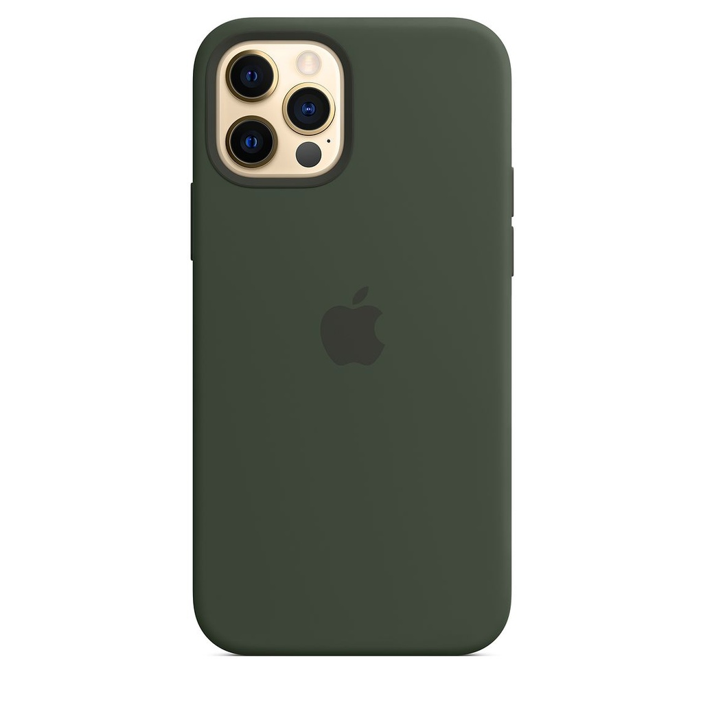 iPhone 12 Pro Max Silicone Case with MagSafe - Cypress Green