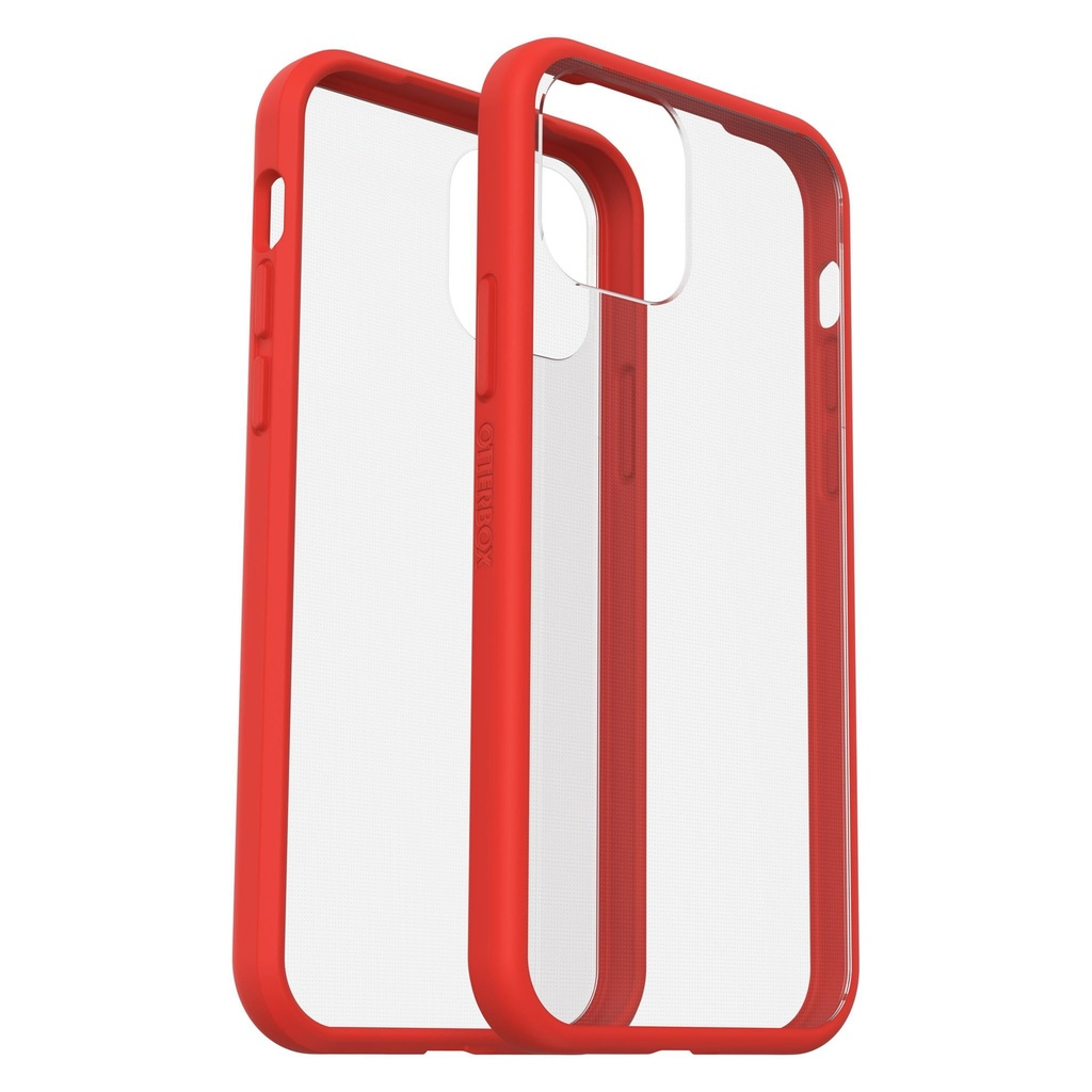 Coque ultra fine pour iPhone 12 Mini Clear/Red