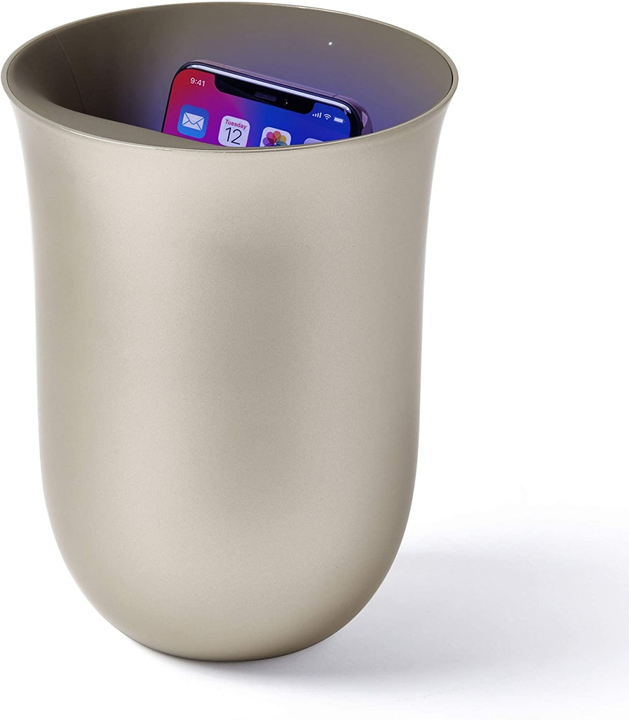Lexon Oblio wireless charger with built-in UV sanitiser - gold