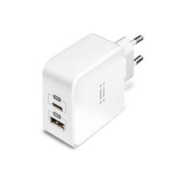 [AIW1U1TYPEC-WH-APR] Aiino - Dual Wall Charger USB QC 3.0 and USB Type C PD