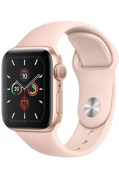 [MWV72NF/A] Apple Watch Series 5 GPS, 40mm Gold Aluminium Case with Pink Sand Sport Band