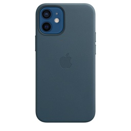 [MHK83ZM/A] iPhone 12 mini Leather Case with MagSafe - Baltic Blue