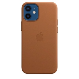 [MHK93ZM/A] iPhone 12 mini Leather Case with MagSafe - Saddle Brown