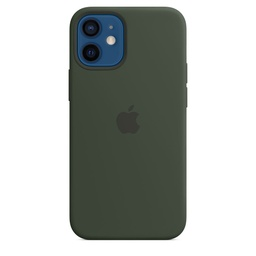 [MHKR3ZM/A] iPhone 12 mini Silicone Case with MagSafe - Cypress Green