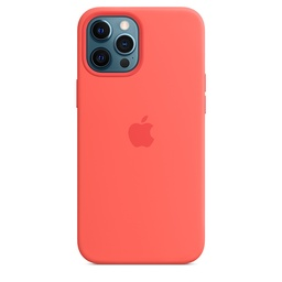 [MHL93ZM/A] iPhone 12 Pro Max Silicone Case with MagSafe - Pink Citrus