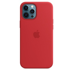 [MHLF3ZM/A] iPhone 12 Pro Max Silicone Case with MagSafe - (PRODUCT)RED