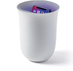 [LXNOBLIO-WH] Lexon Oblio wireless charger with built-in UV sanitiser - Silver