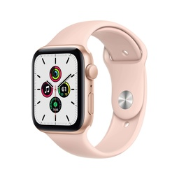 [MYDN2NF/A] Apple Watch SE GPS, 40mm Gold Aluminium Case with Pink Sand Sport Band - Regular