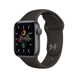 [MYDP2NF/A] Apple Watch SE GPS, 40mm Space Gray Aluminium Case with Black Sport Band - Regular