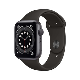 [MG133NF/A] Apple Watch Series 6 GPS, 40mm Space Gray Aluminium Case with Black Sport Band - Regular