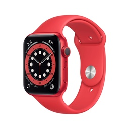 [M00M3NF/A] Apple Watch Series 6 GPS, 44mm PRODUCT(RED) Aluminium Case with PRODUCT(RED) Sport Band - Regular
